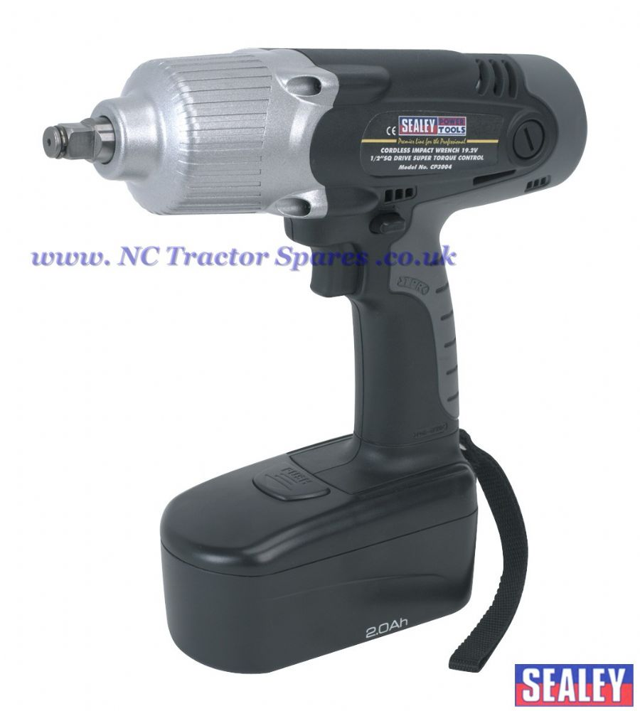"Cordless Impact Wrench 19.2V 1/2""Sq Drive Super Torque Control 400lb.ft"